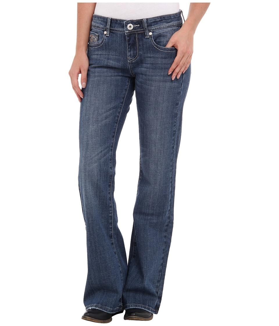 Stetson 816 Classic Fit Heavy Stud (Blue) Women's Jeans