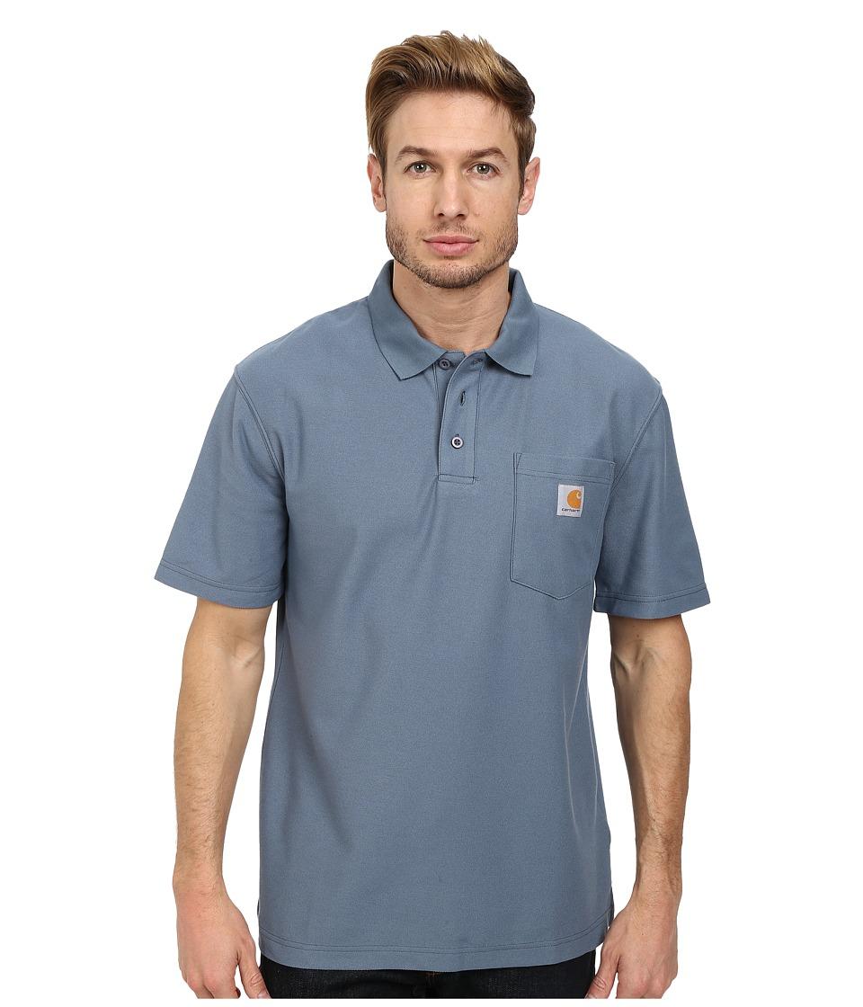 Carhartt Contractors Work Pockettm Polo (Steel Blue) Men'...