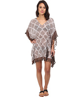 Tommy Bahama - Floral Medallion Ocersized Tunic Cover-Up w/ Tassels