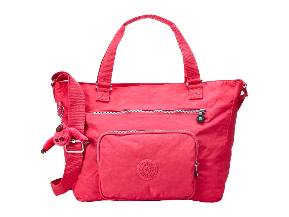 Kipling Maxwell Tote Vibrant Pink Tote Handbags