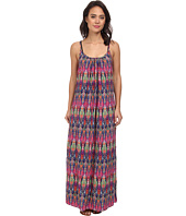 Tommy Bahama - Ikat Tie Dye Spaghetti Strap Long Beach Cover-Up Dress