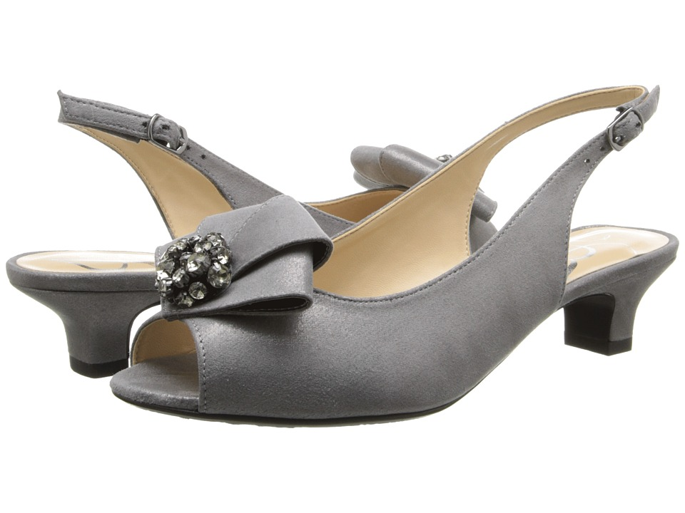J. Renee - Jadan Dark Taupe Glimmer Satin Womens 1-2 inch heel Shoes $104.95 AT vintagedancer.com