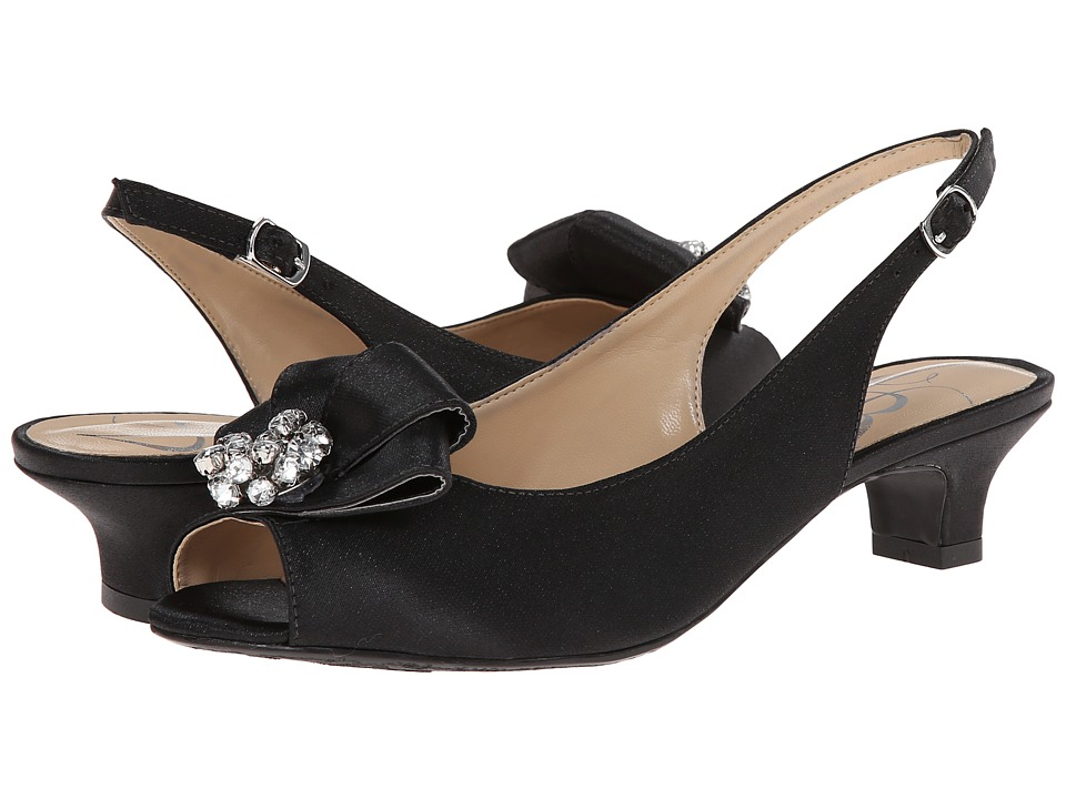 J. Renee - Jadan Black Glimmer Satin Womens 1-2 inch heel Shoes $104.95 AT vintagedancer.com