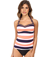 Tommy Bahama - Rugby Palm Halter Shirred Front Long Tankini