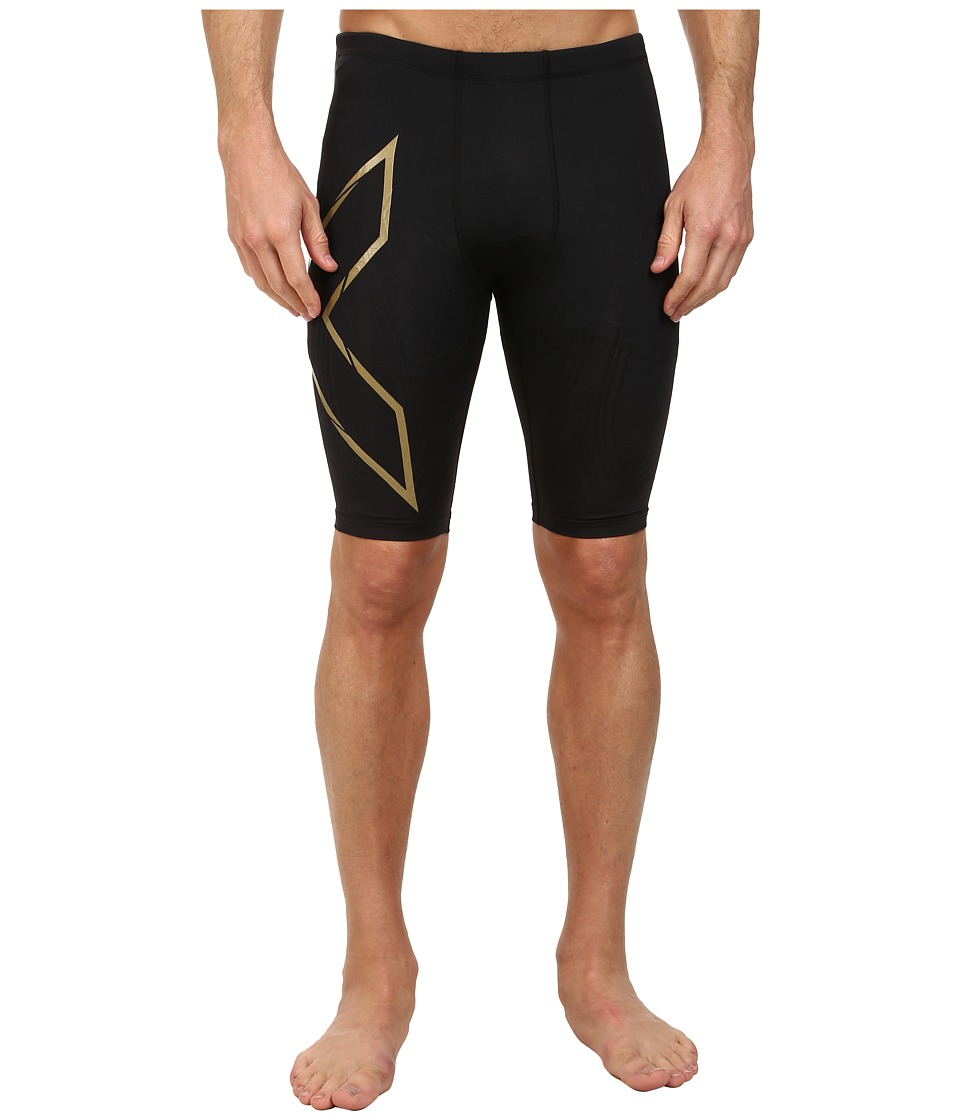 2XU Elite MCS Compression Short (Black/Gold) Men