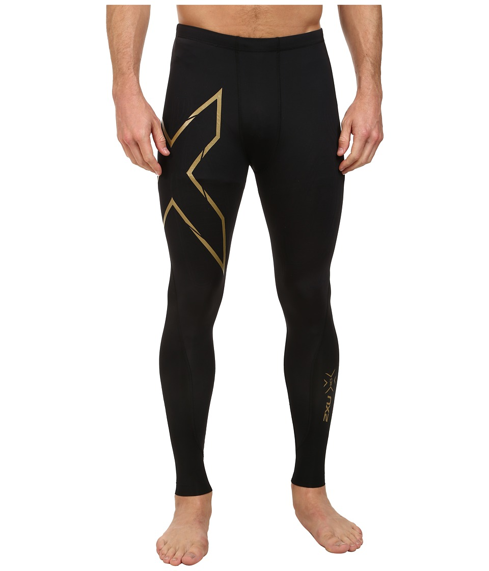 2XU Elite MCS Compression Tights (Black/Gold) Men