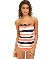 Tommy Bahama - Rugby Palm Shirred Bandeau Cup One-Piece