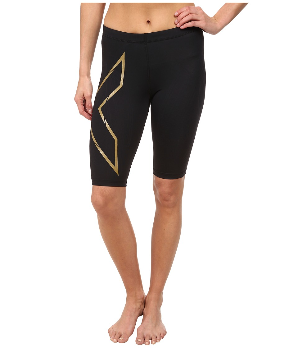 2XU Elite MCS Compression Short (Black/Gold) Women