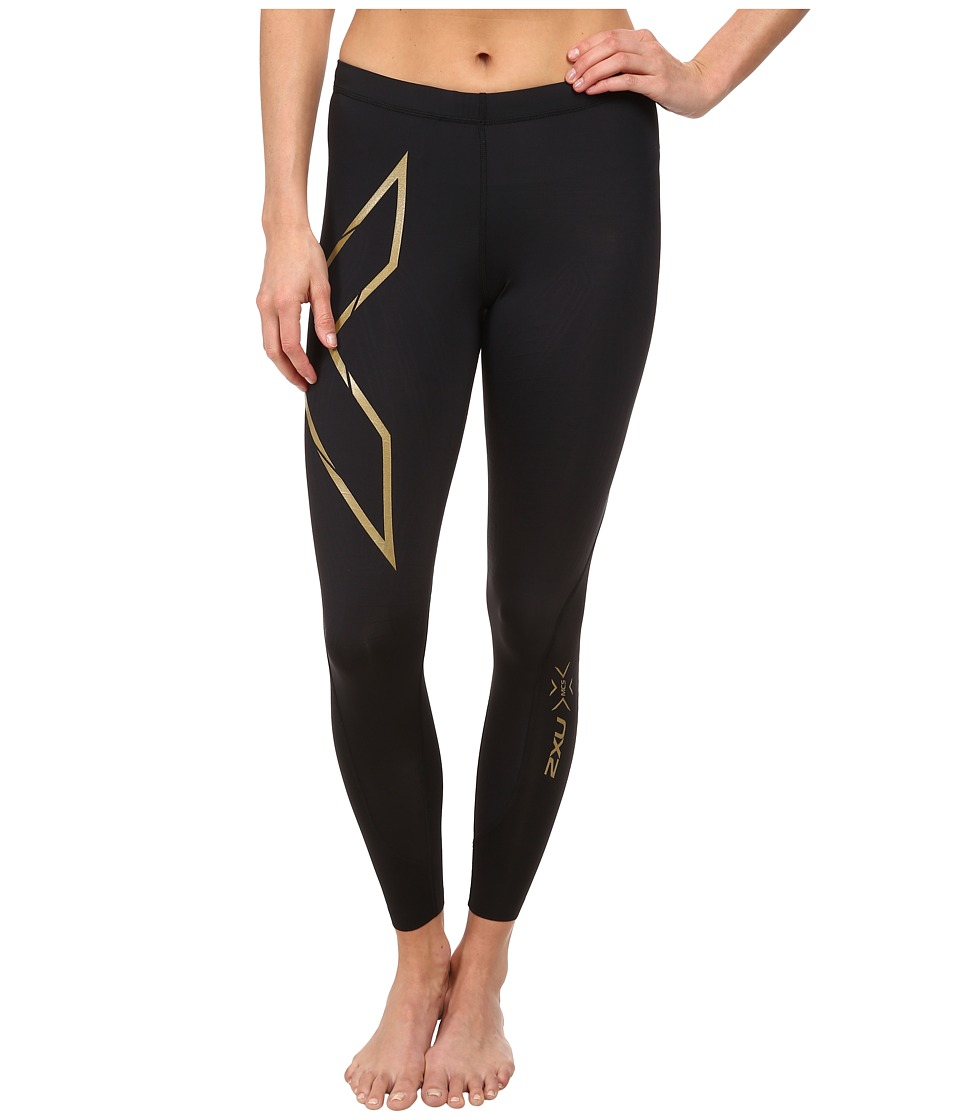 2XU Elite MCS Compression Tights (Black/Gold) Women's Wor...