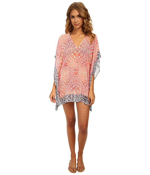 Tommy Bahama - Coral Medallion Tunic Cover-Up (Coral/Bright Pink/Mare) Women's Swimwear