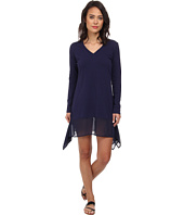 Tommy Bahama - Knit & Chiffon Covers L/S High-Low Dress Cover-Up