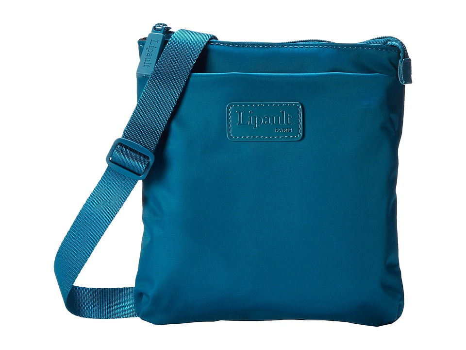Lipault Paris - Medium Crossbody Bag (Aqua) Cross Body Handbags