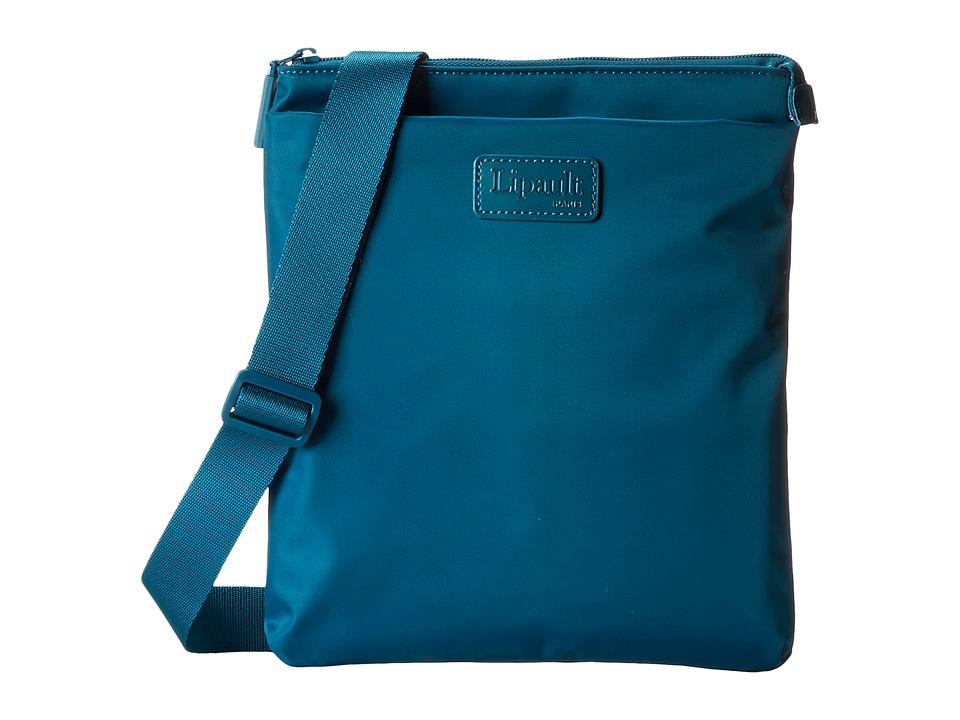 Lipault Paris - Large Crossbody Bag (Aqua) Cross Body Handbags