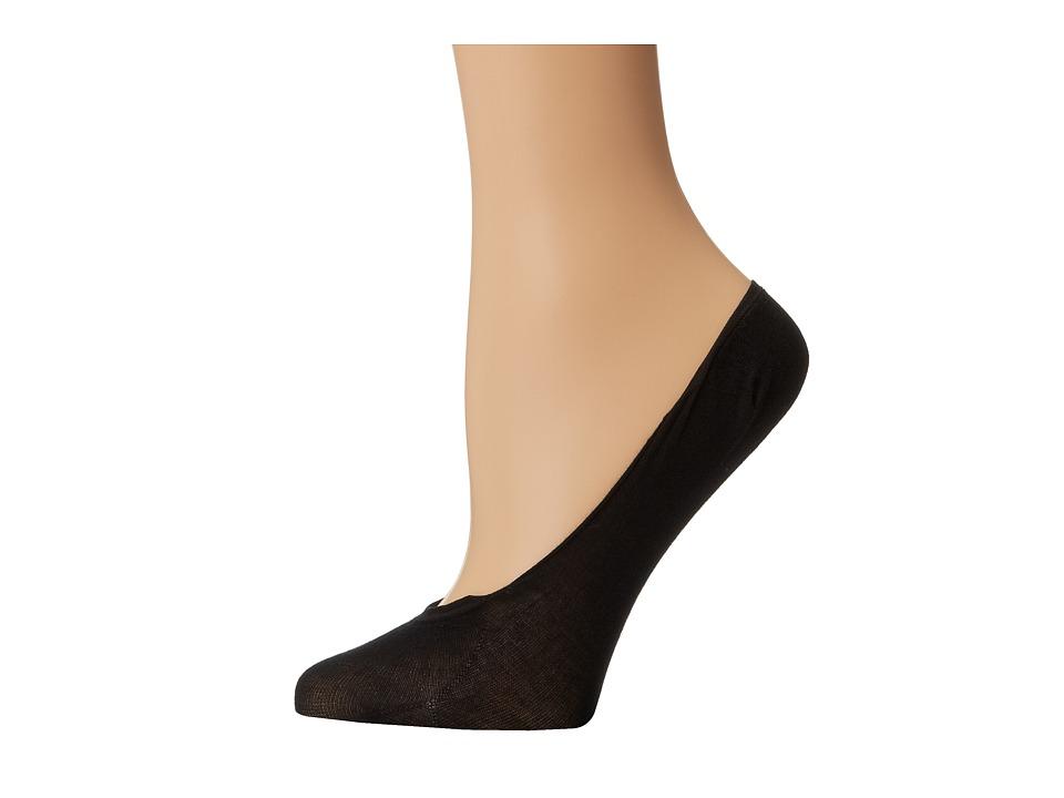 Wolford Cotton Footsies Sock Black Womens No Show Socks Shoes