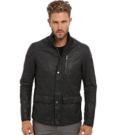 John Varvatos Collection - Zip & Snap Front Motocross Jacket w/ Multi Seamed Body & Sleeve