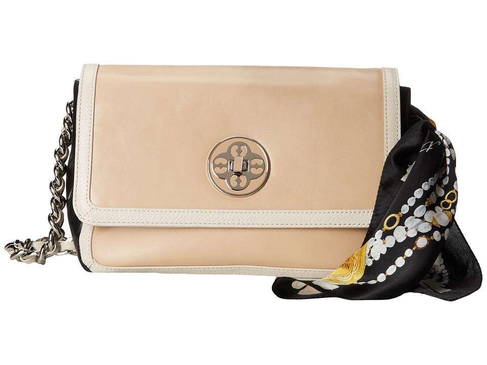 My Flat In London Sabrina Flap Bag Nude/Cream/Black Shoulder Handbags