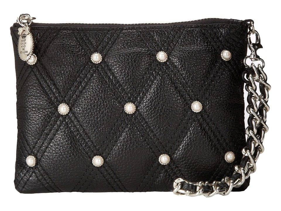 My Flat In London - Westminster Zip Pouch (Black) Handbags