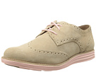 Cole Haan LunarGrand Wing Tip (Cremini Suede/Seashell Pink)