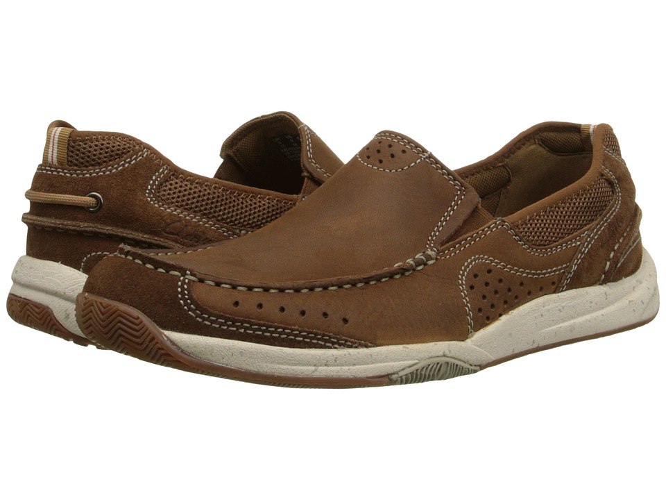Clarks Allston Free Tan Nubuck Mens Slip on Shoes