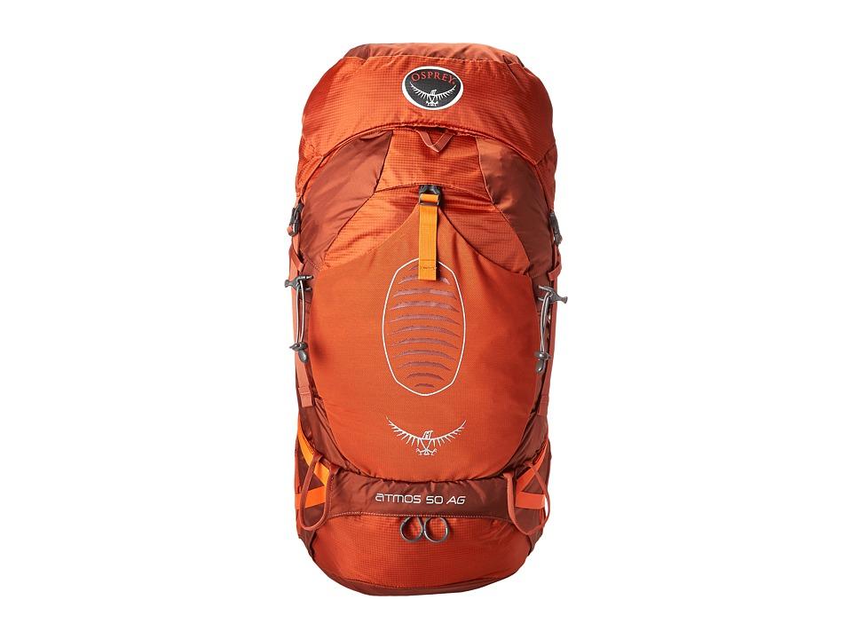 Osprey Atmos 50 AG Cinnabar Red Backpack Bags