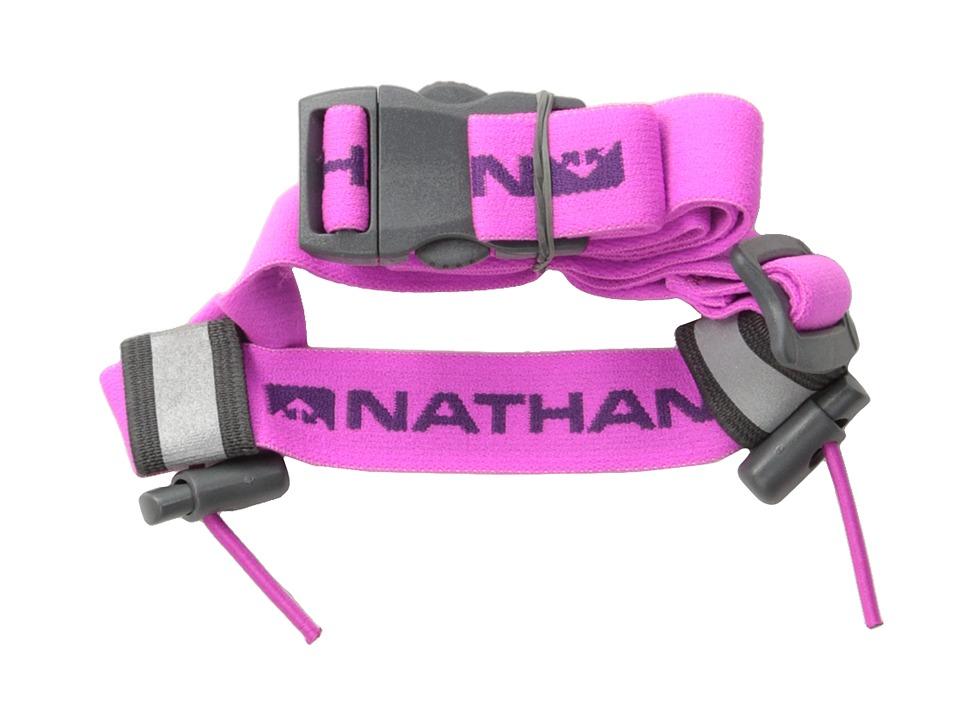 Nathan Race Number Belt Floro Fuchsia 1 Running Sports Equipment