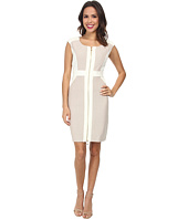 Christin Michaels - Sleeveless Parker Twill Dress