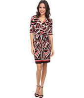 Christin Michaels - Johnny Collar Wrap Dress