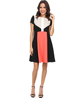 Christin Michaels - Color Block Ottoman Dress