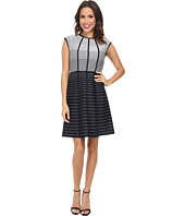 Christin Michaels - Graduated Stripe Dress