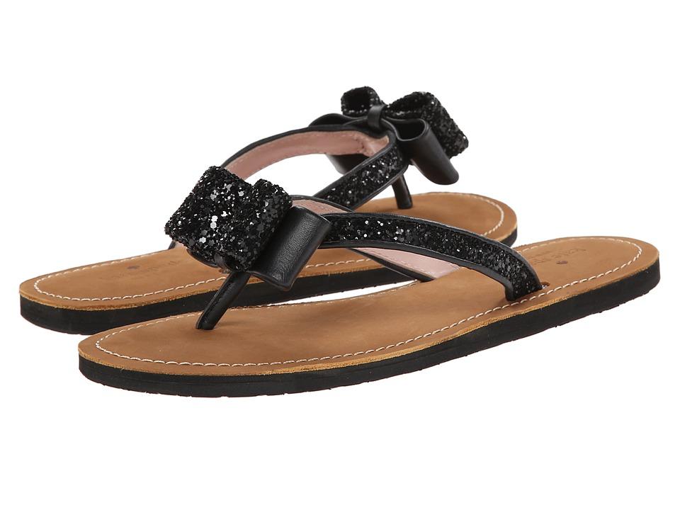 Kate Spade New York - Icarda (Black Glitter/Black Nappa) Women's Sandals