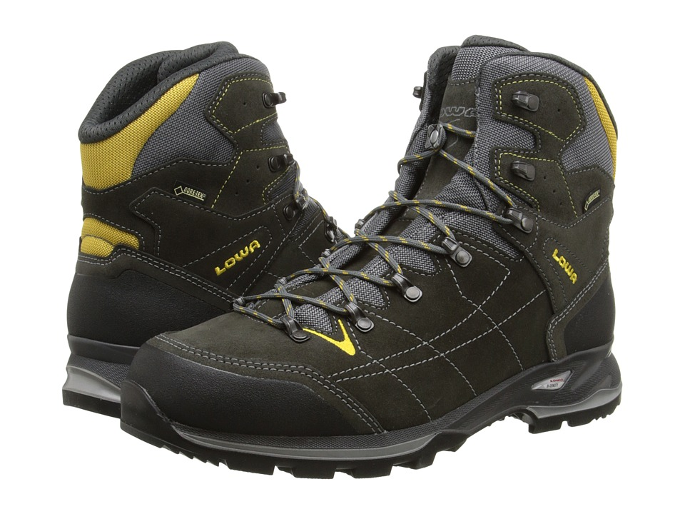 Lowa Vantage GTX Mid Anthracite/Yellow Mens Shoes