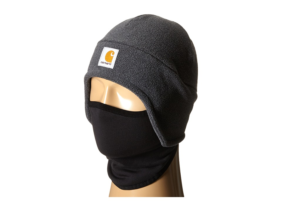 Carhartt Fleece 2 in 1 Headwear Charcoal Heather Cold Weather Hats