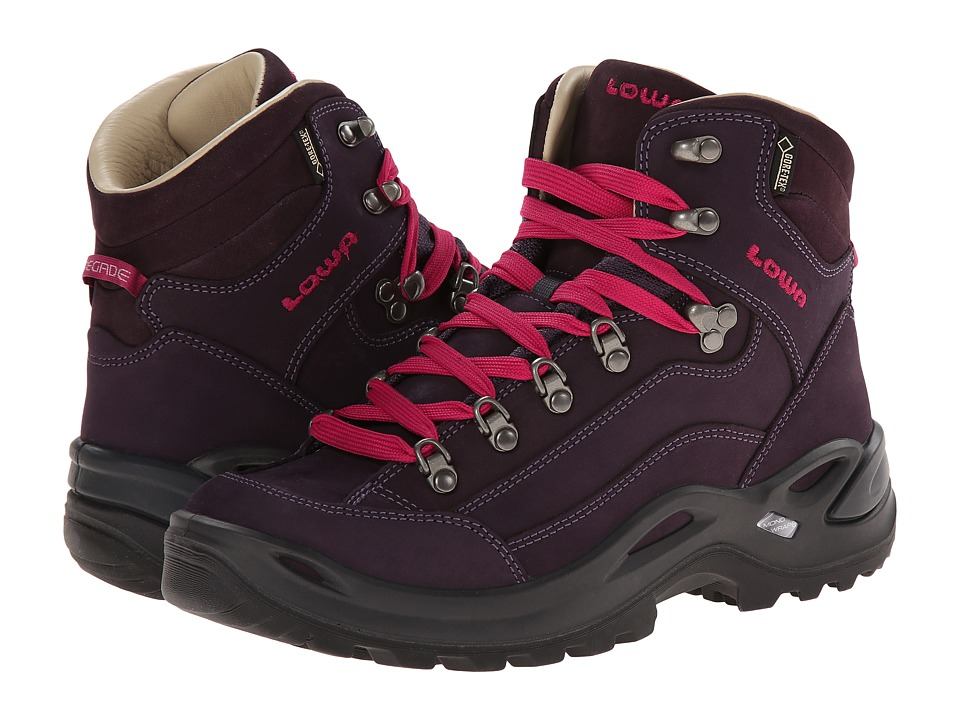 Lowa Renegade Pro GTX Mid WS Prune Womens Shoes
