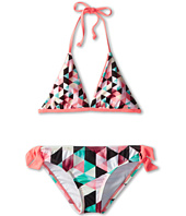 Hurley Kids - Prism Reversible Halter & Retro Bottom with Ties (Big Kids)