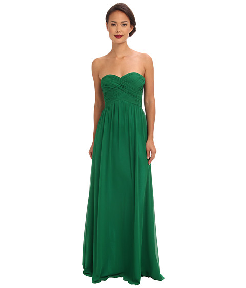 Shop Faviana online and buy Faviana Strapless Sweetheart Chiffon Dress 7338 Emerald Online - Faviana - Strapless Sweetheart Chiffon Dress 7338 (Emerald) - Apparel: Be the belle of the ball in this elegant Faviana dress. ; Sophisticated strapless gown is fabricated from airy poly chiffon. ; Delicate pleating at crisscrosses the bodice and complements the sweetheart neckline. ; Supportive boning shapes bodice. ; Slight shirring grants the skirt an elegant drape. ; Concealed back-zip closure. ; Fully lined. ; Style #7338. ; 100% polyester. ; Spot clean only. ; Imported. Measurements: ; Length: 54 in ; Product measurements were taken using size 0. Please note that measurements may vary by size.