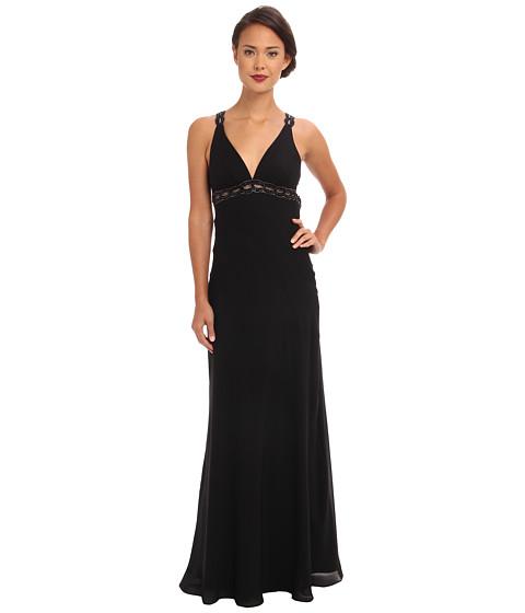 Faviana V-Neck Chiffon Back Detail Dress 6120