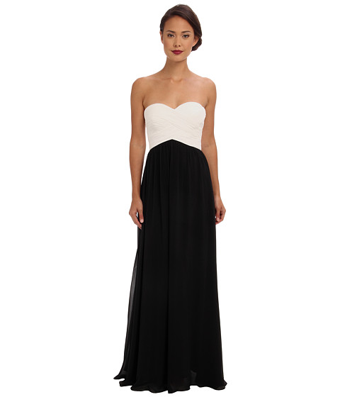Shop Faviana online and buy Faviana Strapless Sweetheart Chiffon Dress 7338 Ivory/Black Online - Faviana - Strapless Sweetheart Chiffon Dress 7338 (Ivory/Black) - Apparel: Be the belle of the ball in this elegant Faviana dress. ; Sophisticated strapless gown is fabricated from airy poly chiffon. ; Delicate pleating at crisscrosses the bodice and complements the sweetheart neckline. ; Supportive boning shapes bodice. ; Slight shirring grants the skirt an elegant drape. ; Concealed back-zip closure. ; Fully lined. ; Style #7338. ; 100% polyester. ; Spot clean only. ; Imported. Measurements: ; Length: 54 in ; Product measurements were taken using size 0. Please note that measurements may vary by size.