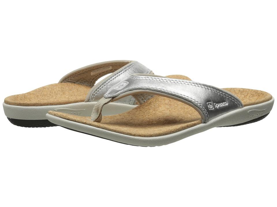 Spenco Yumi Metallic (Silver) Women's Dress Sandals