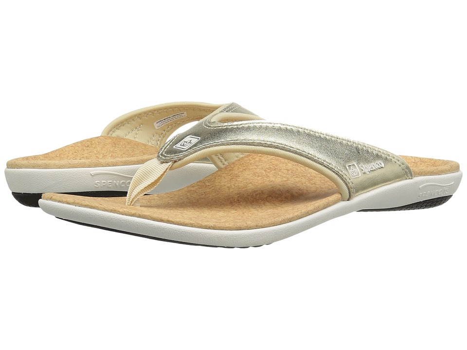 Spenco - Yumi Metallic (Gold) Women