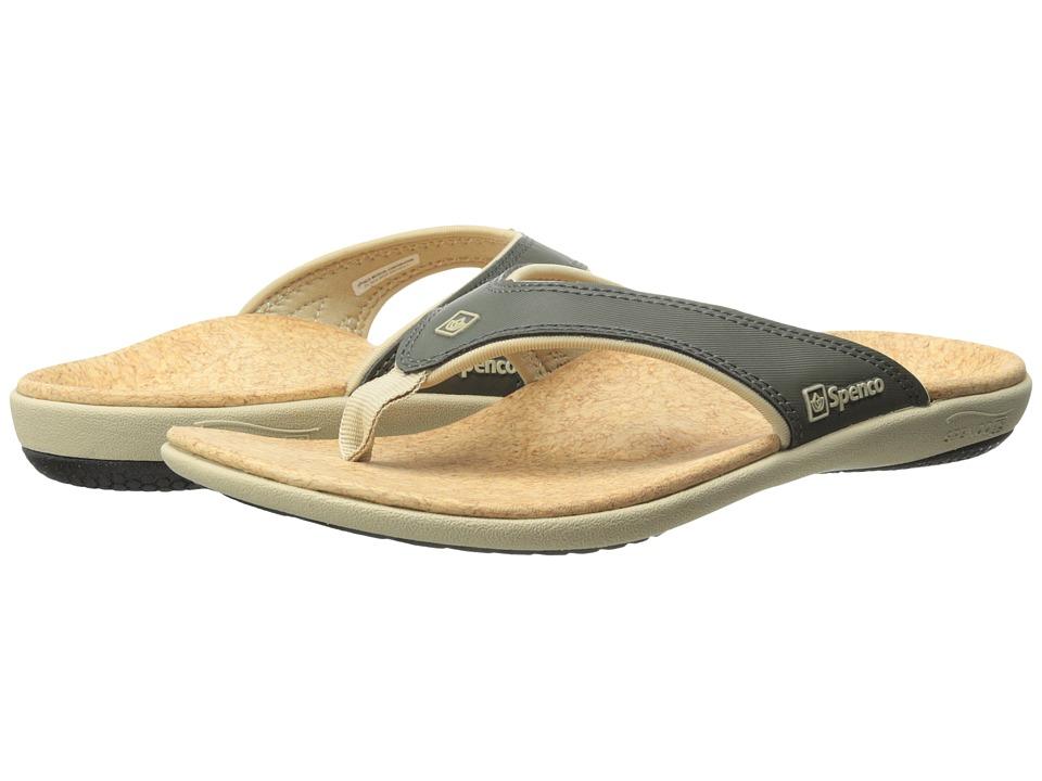 Spenco Yumi Dark Olive/Khaki Mens Sandals