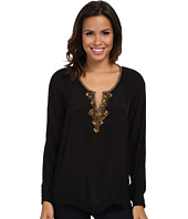 Adrianna Papell - Embellished Tunic w/ Inverted Pleat Detail