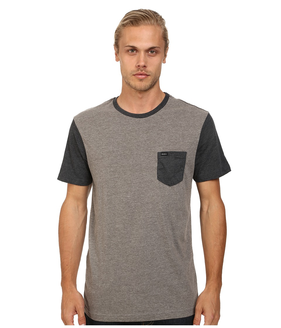 RVCA Change Up Crew Grey Noise Mens Short Sleeve Pullover
