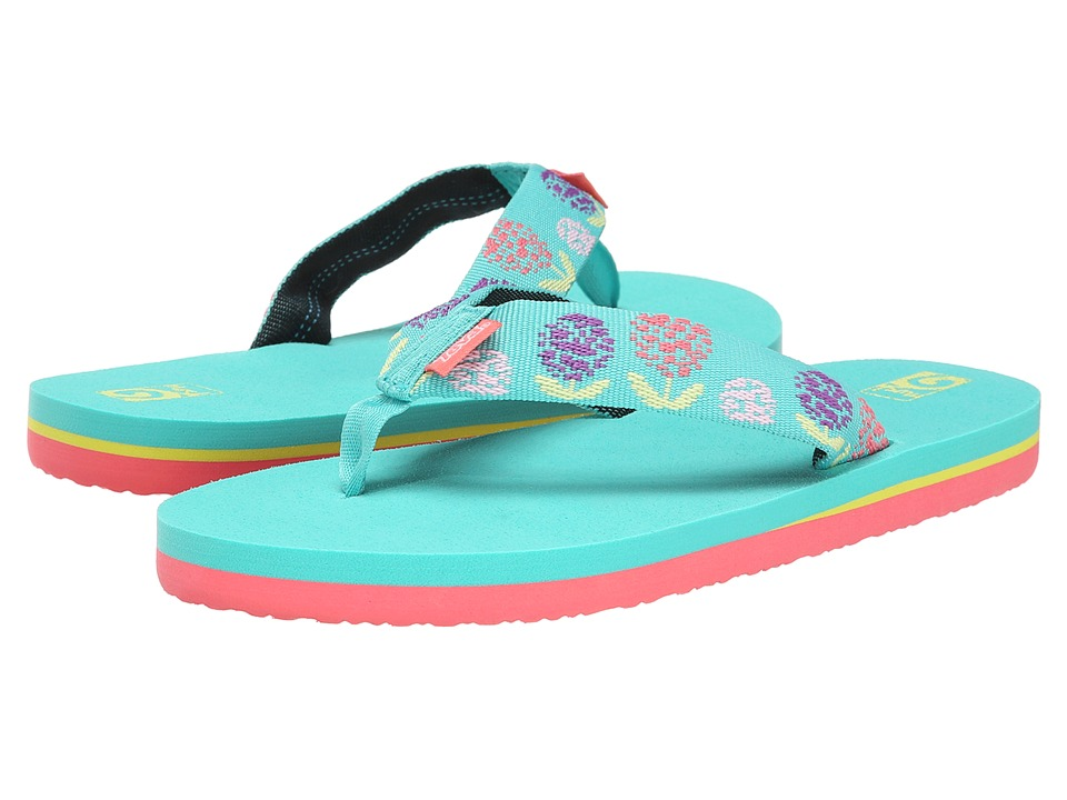 Teva Kids - Mush II (Little Kid/Big Kid) (Dandelions Aqua) Girls Shoes