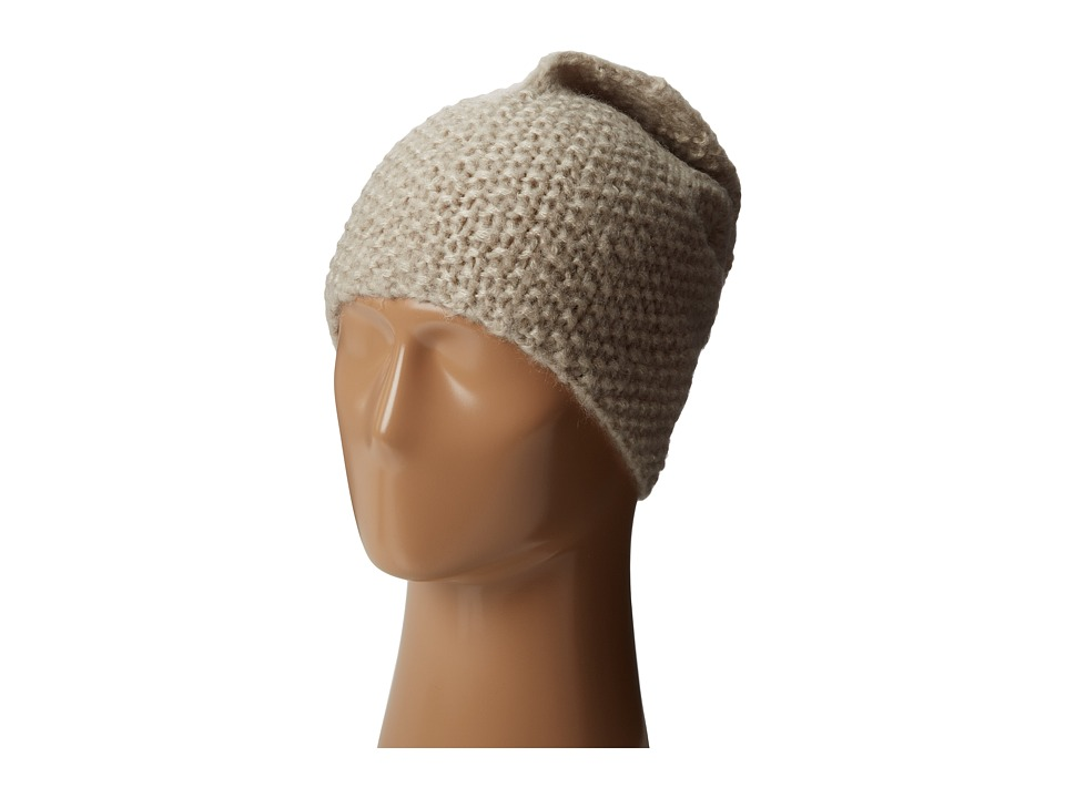 Hat Attack Cozy Slouchy/Cuff Hat Wheat Knit Hats