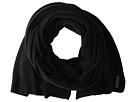 Cole Haan Lightweight Wool Muffler (Solid Black)