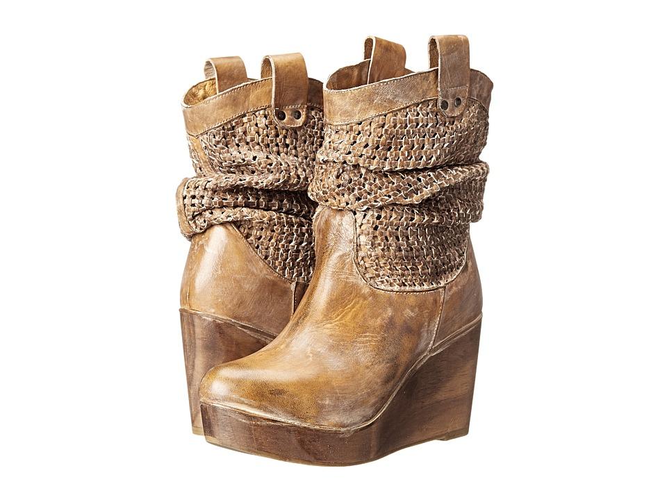 Bed Stu Ostend Tan Rustic/White Womens Dress Boots