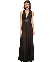 BCBGMAXAZRIA - Stacy Deep V-Neck Evening Dress