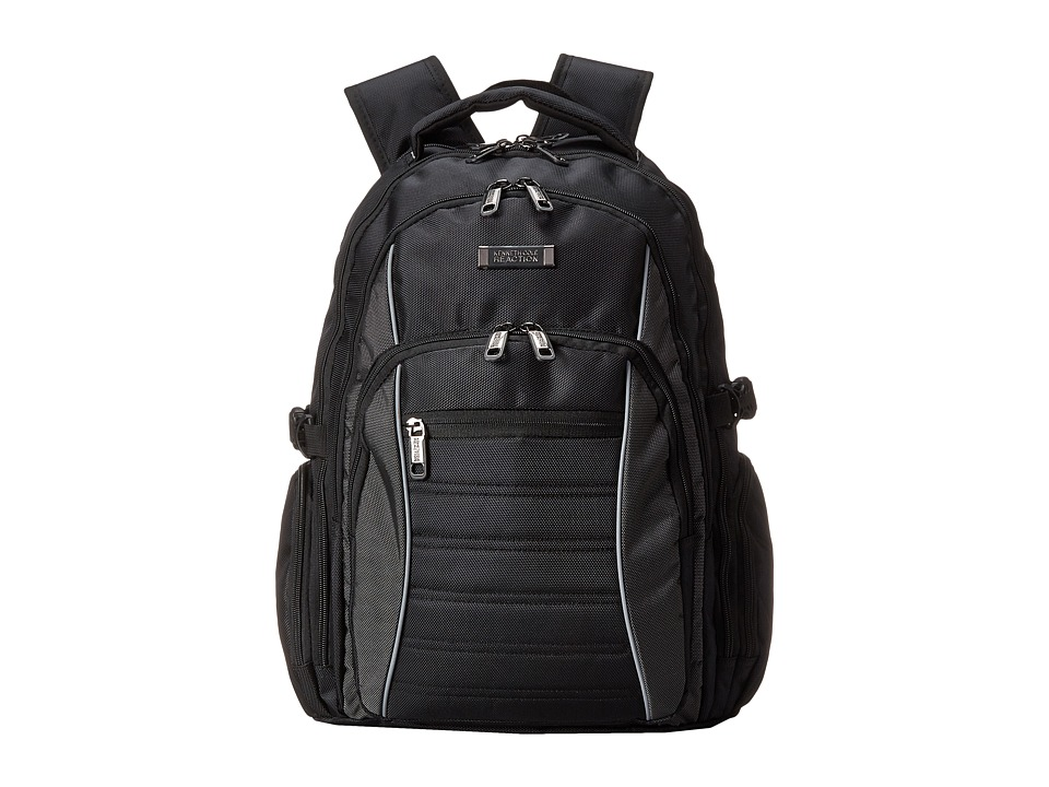 Kenneth Cole Reaction - No Looking Back Computer Backpack (Black) Backpack Bags