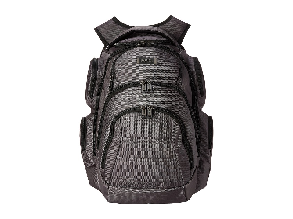 Kenneth Cole Reaction - Pack of All Trades Computer Backpack (Charcoal) Backpack Bags