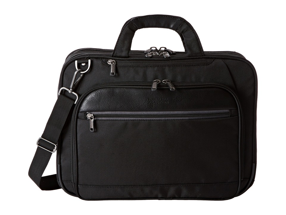 Kenneth Cole Reaction - No Easy Way Out Laptop Brief (Black) Briefcase Bags